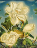 Texas:Early Texas Art - Regionalists, PAUL RODDA COOK (1897-1972). Magnolia Blossoms, 1920's to1930's. Oil on canvas. 26in. x 20in.. Signed lower right. A ...