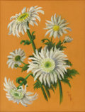 Texas:Early Texas Art - Regionalists, MARILYN MILLER KINCHELOE (1911-1999). Shasta Daisies,1930's. Pastel. 15in. x 11in.. Signed lower right. Executed on c...