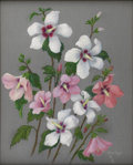 Texas:Early Texas Art - Regionalists, MARILYN MILLER KINCHELOE (1911-1999). Altheas (Hibiscus Syriacusof the Mallow Family), 1930's. Pastel. 20in. x 16in.. S...