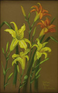 Texas:Early Texas Art - Regionalists, MARILYN MILLER KINCHELOE (1911-1999). Daylilies, 1930's. Pastel. 22in. x 14in.. Signed lower right. Signed and titled ve...