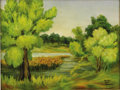 Texas:Early Texas Art - Regionalists, MARILYN MILLER KINCHELOE (1911-1999). Spring at BachmanLake, 1930's. Oil on canvasboard. 18in. x 24in.. Signed lowerri...