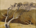 Texas:Early Texas Art - Regionalists, PERRY NICHOLS (1911-1992). Untitled. Watercolor. 12in. x16in.. Estate stamp verso. Perry Nichols watercolor influence...
