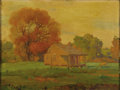 Texas:Early Texas Art - Regionalists, JOHN W. ORTH (1889-1976). Cabin in Brenham, Texas,1923-1925. Oil on canvas. 18in. x 24in.. Signed and titled lowerrigh...
