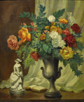 Texas:Early Texas Art - Regionalists, JOHN ORTH (1889-1976). Floral with Urn. Oil on masonite.36in. x 30in.. Signed lower left. Provenance: Estate of John...