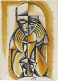Texas:Early Texas Art - Modernists, Xavier Gonzalez (1898-1993) The Oracle, 1946 Ink, gouache, pencilon paper 26 1/2 x 19 1/4in. Signed and dated lower rig...