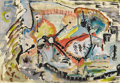 Texas:Early Texas Art - Modernists, ROBERT PREUSSER (1919-1992). Untitled, 1937. Watercolor.13.5in. x 20in.. Signed and dated bottom center. These non-ob...