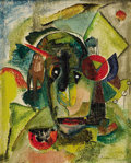 Texas:Early Texas Art - Modernists, ROBERT PREUSSER (1919-1992). Clown, early 1930's. Oil onboard. 10in. x 8in.. Signed lower right. It has been said Rob...