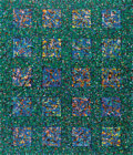 Texas:Early Texas Art - Modernists, J.J. MCVICKER (1911-2004). Submerged Squares, 1972. Acryliccollage on canvas. 36in. x 42in.. Signed and dated lower rig...