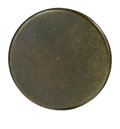Political:Tokens & Medals, 1829 Andrew Jackson Backname Button in Gilt Brass. Listed as Albert PC-82, DeWitt AJACK 1828-12, 20 mm. The front is blank. ...