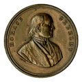 Political:Tokens & Medals, 1872 Horace Greeley Editor and Founder of the N.Y. Tribune Copper Medalet. Measures 25mm. Sullivan-DeWitt HG 1872-6a. This m...