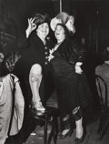 Photographs, WEEGEE (American, 1899-1968). At Sammy's on the Bowery, 1944. Gelatin silver . 12-7/8 x 9-7/8 inches (32.7 x 25.1 cm). A...