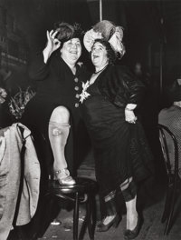 WEEGEE (American, 1899-1968) At Sammy's on the Bowery, 1944 Gelatin silver 12-7/8 x 9-7/8 inches