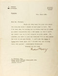 Autographs:Authors, Rudyard Kipling (1865-1936, English author) Typed Letter Signed. June 4, 1932. Measures 8 x 10.5 inches. One horizontal and ...