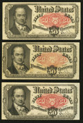 Fractional Currency:Fifth Issue, Fr. 1381 50¢ Fifth Issue Three Examples.. ... (Total: 3 notes)