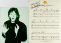 """Autographs:Artists, Paul McCartney Sheet Music Signed. Sheet music for """"How Many People"""" neatly removed from a songbook published in 1989. Measu..."""