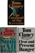 Books:Fiction, Tom Clancy. A Group of Three First Editions of the Jack RyanNovels. New York: G. P. Putnam's Sons, [1988-1991]. First trade...(Total: 3 Items)