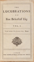 Books:Literature Pre-1900, [Sir Richard Steele and Joseph Addison]. [The Tatler].The Lucubrations of Isaac Bickerstaff, Esq. Londo...