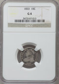Bust Dimes: , 1833 10C Good 4 NGC. NGC Census: (6/348). PCGS Population (6/409). Mintage: 485,000. Numismedia Wsl. Price for problem free...