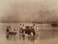 Photographs:Historical Photographs, FRANK MEADOW SUTCLIFFE (British, 1853-1941). Water Rats, 1886. Albumen. 5-3/4 x 7-3/4 inches (14.6 x 19.7 cm). ...