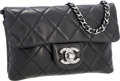 Luxury Accessories:Bags, Chanel Black Quilted Lambskin Leather Wallet on Chain WOC Bag withSilver Hardware. ...