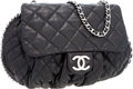 Luxury Accessories:Bags, Chanel Black Quilted Lambskin Leather Large Chain Around CrossbodyBag. ...