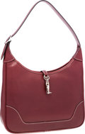 Luxury Accessories:Bags, Hermes 31cm Rouge H Veau Graine Lisse Leather Trim II Bag withPalladium Hardware. ...
