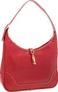Luxury Accessories:Bags, Hermes 31cm Rouge H Veau Graine Lisse Leather Trim II Bag with GoldHardware. ...
