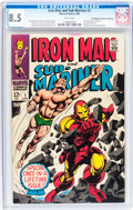 Silver Age (1956-1969):Superhero, Iron Man and Sub-Mariner #1 Don/Maggie Thompson Collection pedigree (Marvel, 1968) CGC VF+ 8.5 White pages....