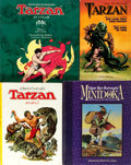 Books:Children's Books, Edgar Rice Burroughs. Group of Four Color Comics Tarzan Editionsfor Kids. Various publishers and dates. Quarto and folio- s...(Total: 4 Items)