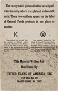 Miscellaneous:Ephemera, [Ku Klux Klan]. General Foods Flyer....