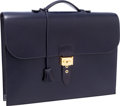 Luxury Accessories:Bags, Hermes 40cm Indigo Calf Box Leather Sac a Depeches Briefcase Bag. ...