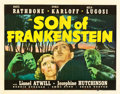 "Movie Posters:Horror, Son of Frankenstein (Universal, 1939). Half Sheet (22"" X 28"") StyleA.. ..."