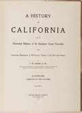 Books:Americana & American History, J.M. Guinn. A History of California. Los Angeles: HistoricRecord Company, 1907. First edition. Volume one only of t...