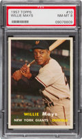 Baseball Cards:Singles (1950-1959), 1957 Topps Willie Mays #10 PSA NM-MT 8....