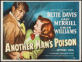 "Movie Posters:Crime, Another Man's Poison (Eros Films, 1951). British Quad (30"" X 40"").Crime.. ..."