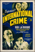 "Movie Posters:Adventure, International Crime (Grand National, 1938). One Sheet (27"" X 41"").Adventure.. ..."