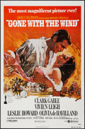 "Movie Posters:Academy Award Winners, Gone with the Wind (MGM/United Artists, R-1980). One Sheet (27"" X41""). Academy Award Winners.. ..."