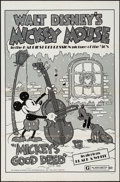 "Movie Posters:Animation, Mickey's Good Deed (Buena Vista, R-1974). One Sheet (27"" X 41"").Animation.. ..."