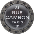 "Luxury Accessories:Accessories, Chanel Gunmetal Rue Cambon Crystal Brooch. PristineCondition. 2"" Width x 2"" Height. ..."