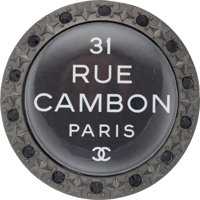 "Chanel Gunmetal Rue Cambon Crystal Brooch Pristine Condition 2"" Width x 2"" Height"