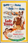 "Movie Posters:Animation, Lady and the Tramp/Almost Angels Combo (Buena Vista, R-1962). One Sheet (27"" X 41""). Animation.. ..."