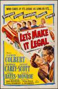 "Movie Posters:Comedy, Let's Make It Legal (20th Century Fox, 1951). One Sheet (27"" X 41""). Comedy.. ..."