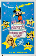 "Movie Posters:Adventure, Mickey's Birthday Party Show (Buena Vista, 1978). One Sheet (27"" X41""). Adventure.. ..."