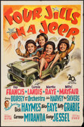 "Movie Posters:War, Four Jills in a Jeep (20th Century Fox, 1944). One Sheet (27"" X41""). War.. ..."