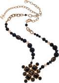 Luxury Accessories:Accessories, Chanel Fall 2007 Gold Necklace with Black & Brown Gripoix. ...
