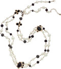 Luxury Accessories:Accessories, Chanel Fall 2008 Champagne Glass Bead Extra Long Necklace. ...