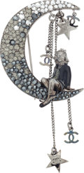Luxury Accessories:Accessories, Chanel Spring 2008 Coco On the Moon Brooch. ...