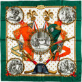 "Luxury Accessories:Accessories, Hermes 90cm Green, Red & Gold ""Napoleon,"" by Philippe LedouxSilk Scarf. ..."