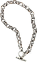 Luxury Accessories:Accessories, Kieselstein Cord Sterling Silver Chainlink Necklace with Toggle Closure. ...