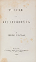 Books:Literature Pre-1900, Herman Melville. Pierre; Or, The Ambiguities. New York:Harper & Brothers, 1852. First edition. Octavo. viii, 495, [...